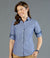 Hardware Chambray Dobby Long Sleeve Womens Shirt-1713whl