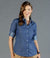 Wellington Denim Dobby Long Sleeve Womens Shirt-1714whl