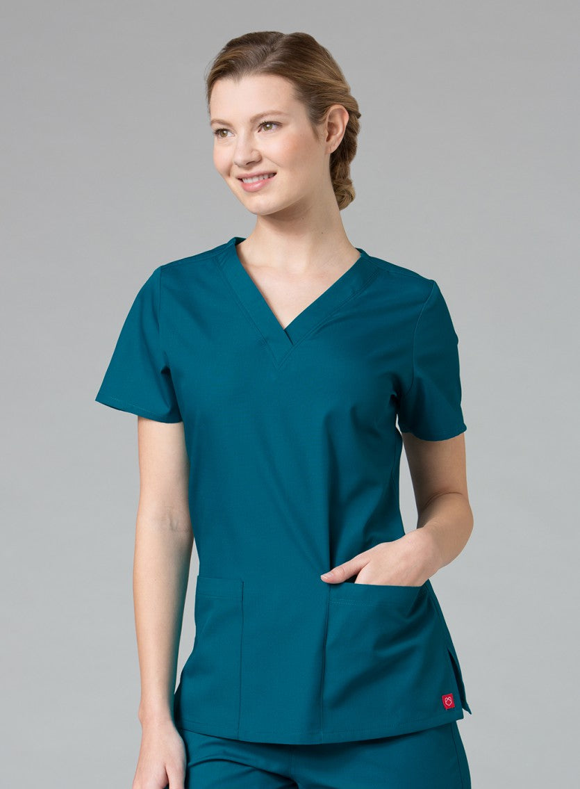 scrub-top-tops-eggplant-maevn-dentist-doctor-nurse-vets