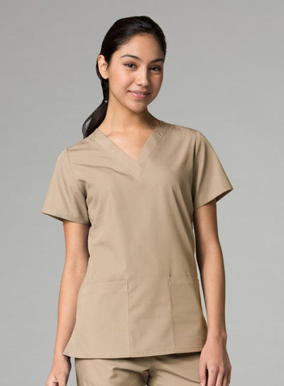 V-Neck Two Pocket Top