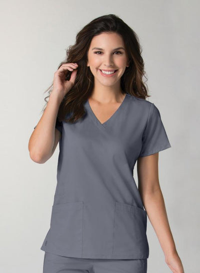 EON Back Mesh Panel, V-Neck Scrub Top