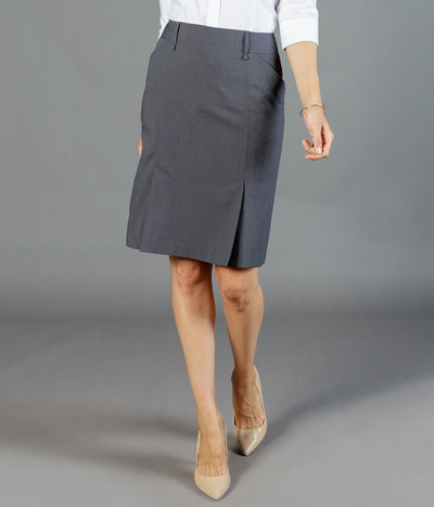 Womens Elliot Washable Box Pleat Skirt-1766wsk-career-by-gloweave