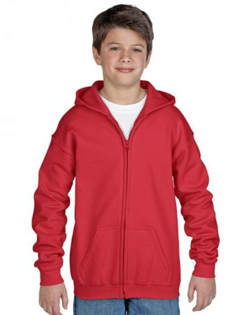 Gildan Youth Fit Full Zip Hoodie-18600b