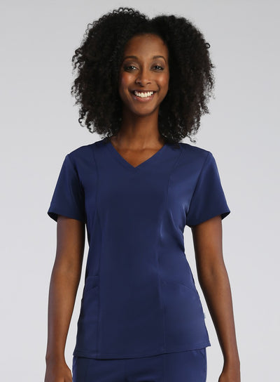Pure 3-Panel, V-neck Top