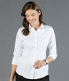 Ultimate White 3/4 Sleeve Womens Shirt - Career Slim Fit-1908wz