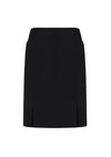 Womens Front Pleat Detail Straight Skirt