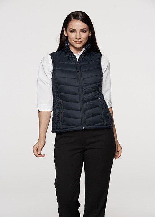 2523-ladies snowy puffer vest