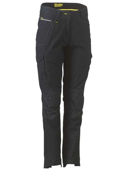 Bisley Flex & Move Womens Stretch Cargo Utility Pants. Stone,