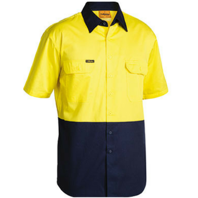Cool Lightweight, Hi Vis, Vented, Drill Shirt