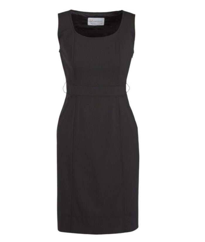 sleeveless-dress-woolblend-office-uniform-corporate