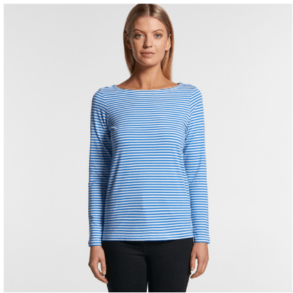 Womens Bowery Stripe L/S Tee-4061-as-colour
