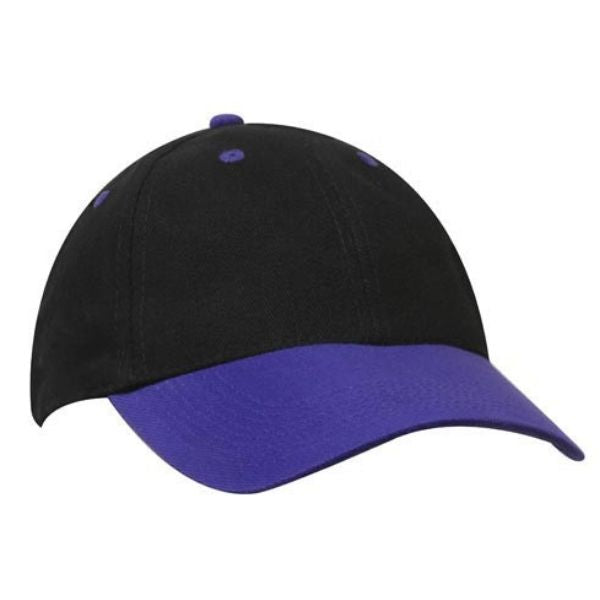 brushed-heavy-cotton-cap-4199-headwear-black-red