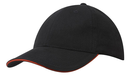 Brushed Heavy Cotton with Sandwich Trim Cap-4210