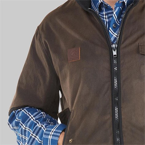 Mens 3/4 Sleeve Oilskin Jacket