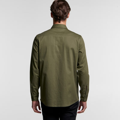 Mens Military Long Sleeve Shirt