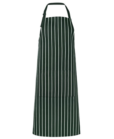 Bib Striped Apron - With Pocket