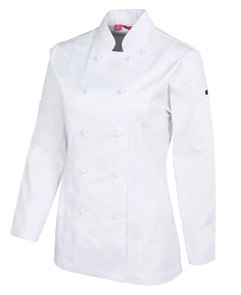 jackets-5cvl1-Ladies Vented Chef's Jacket - Long Sleeve