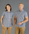 Degraves Royal Oxford Check Short Sleeve Mens Shirt