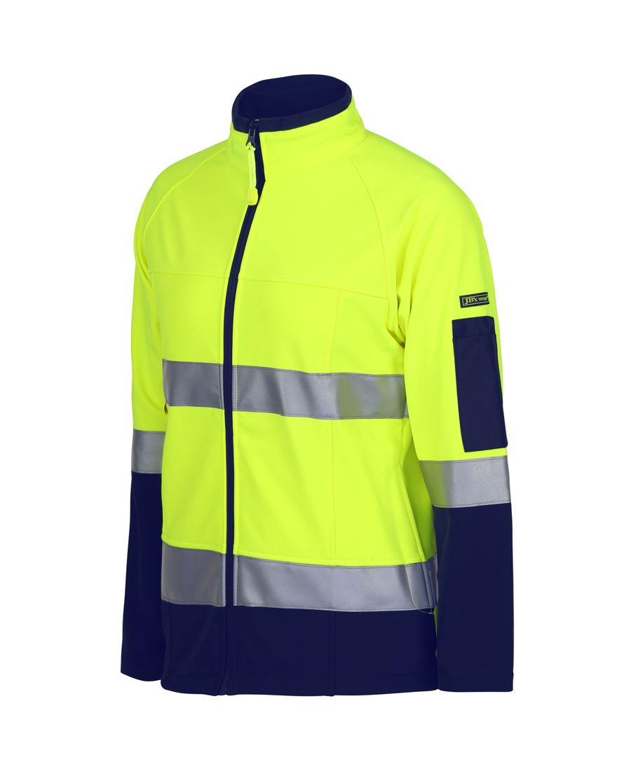 workwear-jackets-6d4j1 Ladies Hi Vis (D+N) Softshell Jacket with 3M Tape