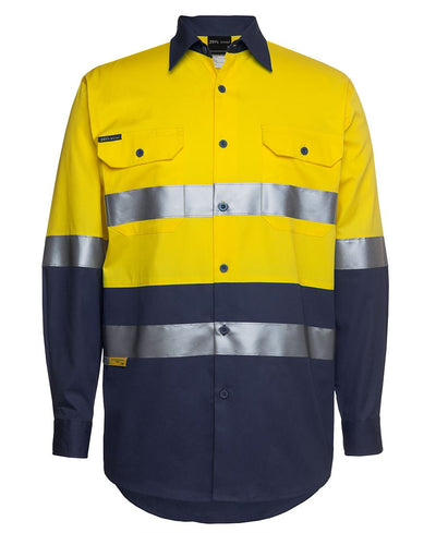 Hi Vis Long Sleeve, (D+N) 150G Work Shirt