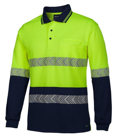 hi-vis-long-sleeve-taped-polo-segmented-tape-yellow-navy-builders-plumbers-electricians-uniforms