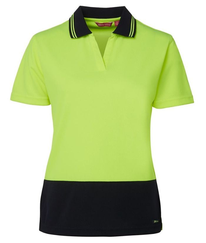 Ladies-hi-vis-s/non-button-day-only-polo-6hnb1