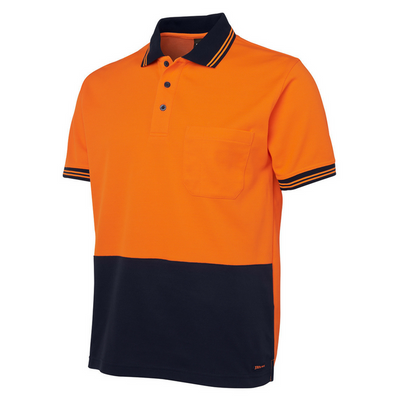 Hi Vis Cotton Back Polo