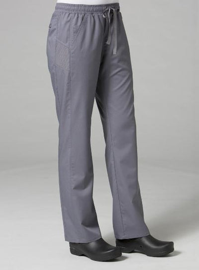 Sporty Mesh Panel Scrub Pant