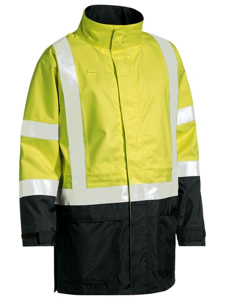 3M Taped Two Tone Hi Vis Anti Static Wet Weather Jacket-bj693t-bisley