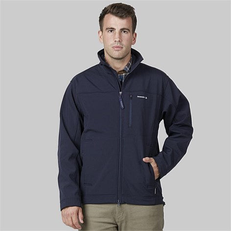 Men's Redwoods Black Soft Shell Jacket with Fleece Lining