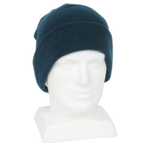 adults warm merino woolen beanie colour blue uniform contractors builders farmers trampers