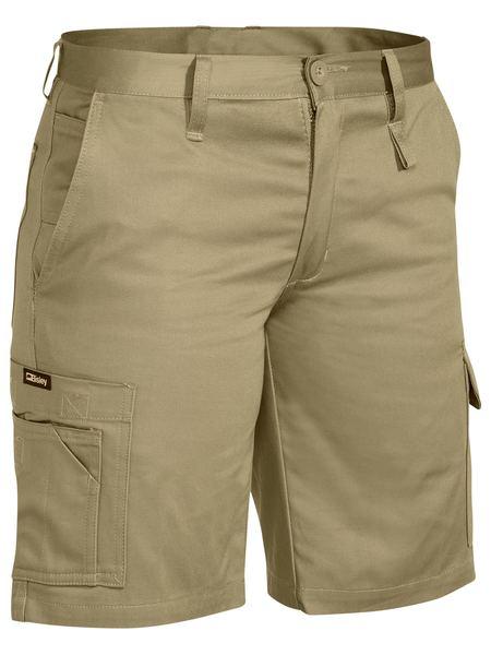 Bilsey Womens Drill Light Weight Utility Uniform Shorts. Khaki