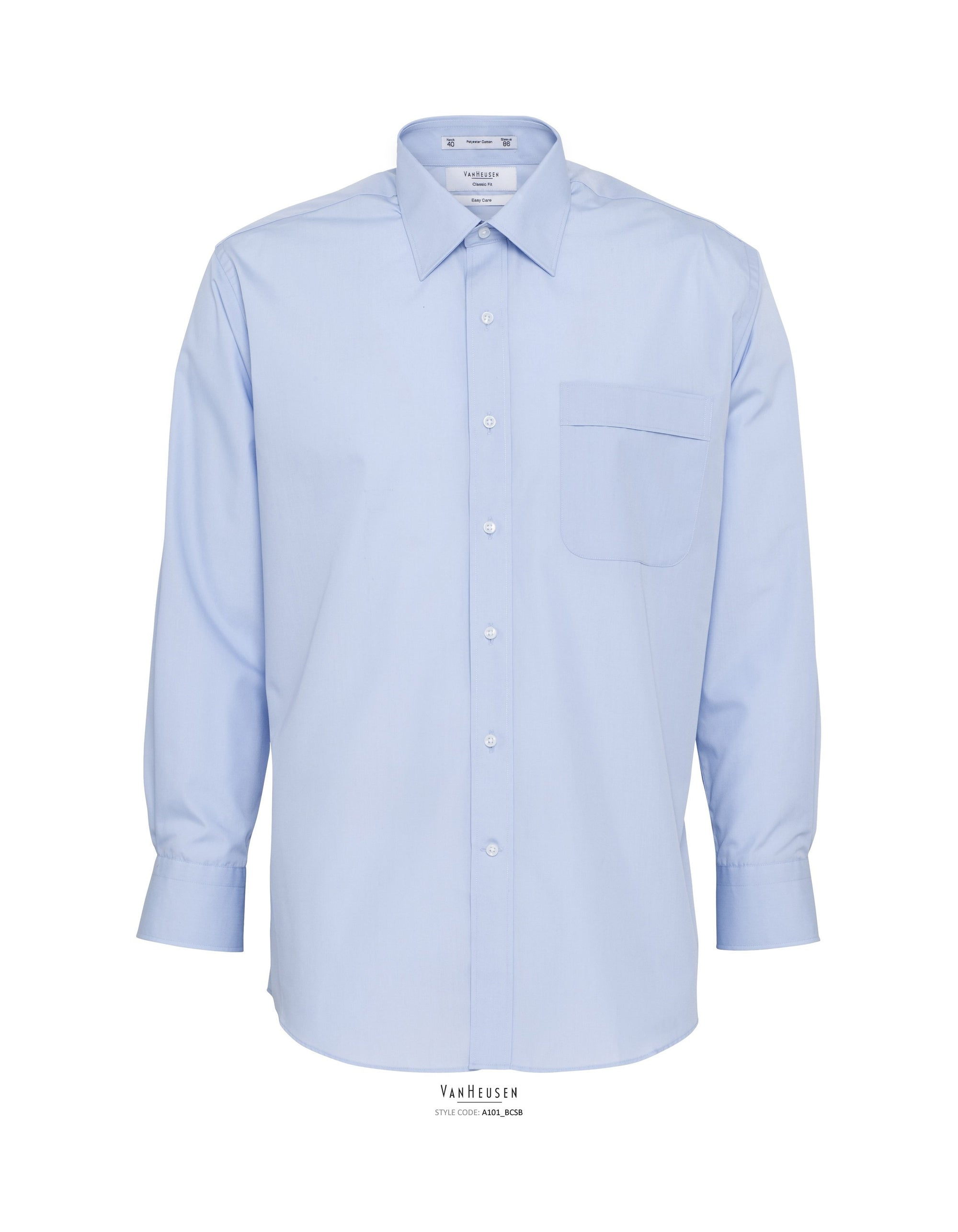 van heusen mens long sleeve shirts-a101