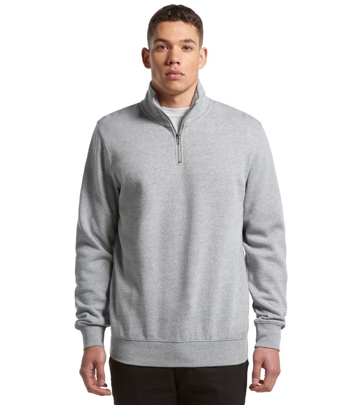 AS-colour-mens-half-zip-crew-sweatshirt-5125-grey-marle
