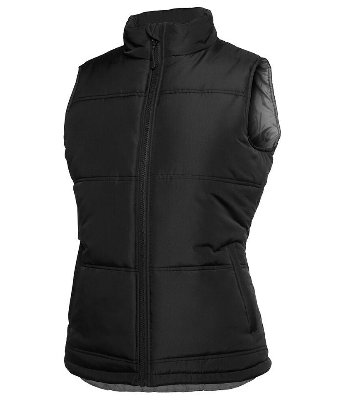 womens-puffer-vests-nz-Ladies-adventure-puffer-vest-3ADV1-Black/Grey-navy/grey