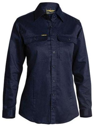 Bisley Womens Drill Long Sleeve Shirt
