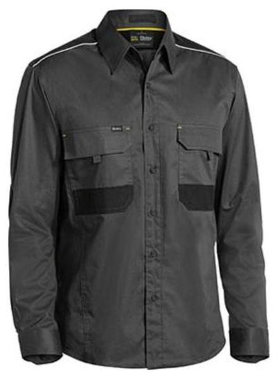 Bisley Flex & Move Mechanical Stretch Long Sleeve Shirt
