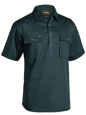 Bisley Closed Front Drill Short Sleeve Shirt