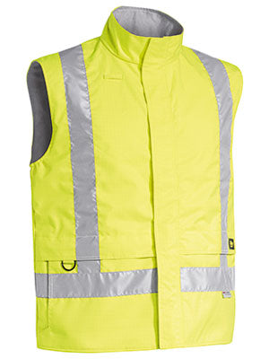 3M Taped Hi Vis Wet Weather Anti Static Vest-bisley-bv0363t