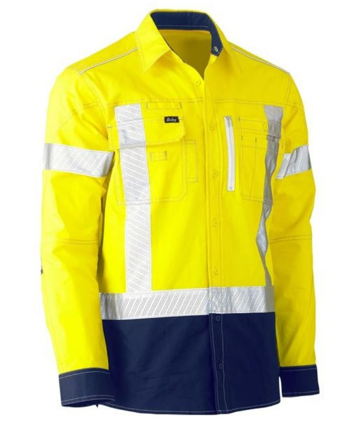 Flex & Move Two Tone Hi Vis Stretch Utility Shirt
