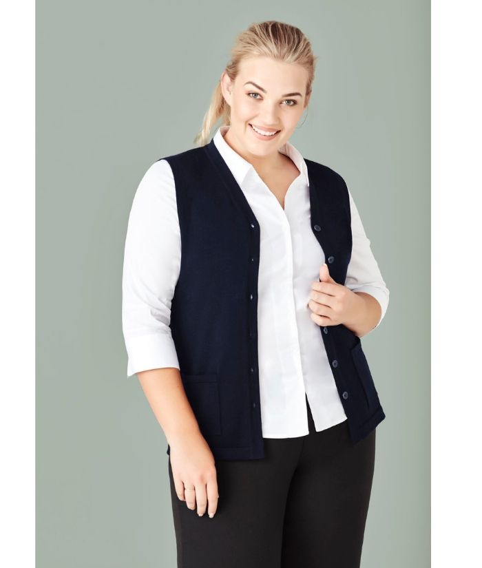 womens-bizcare-button-front-knit-vest-CK961LV