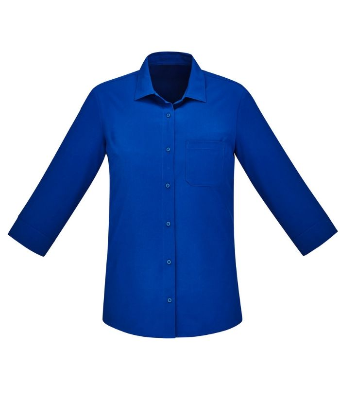 womens-easy-stretch-3/4-sleeve-shirt-bizcare-cs951lt