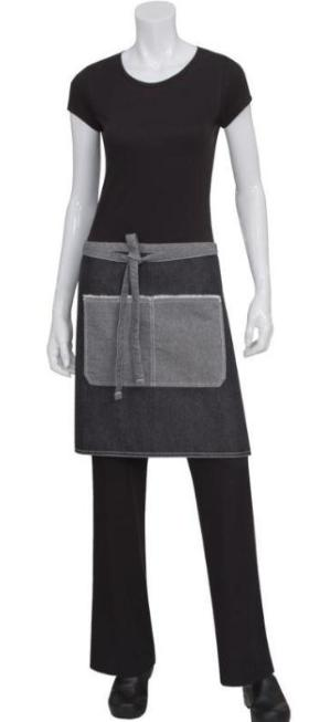 Bronx-chef-works-1/2-waist-apron-aw044-aprons-nz-short-denim-black-blue
