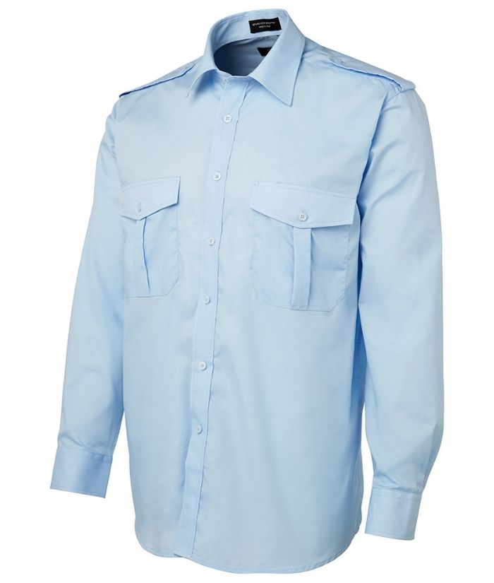 Epaulette Shirt Long Sleeve