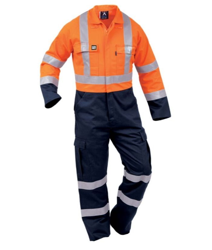 fire-retardant-arc-rated-8.6-overalls-linesmen-electricians-yellow-navy