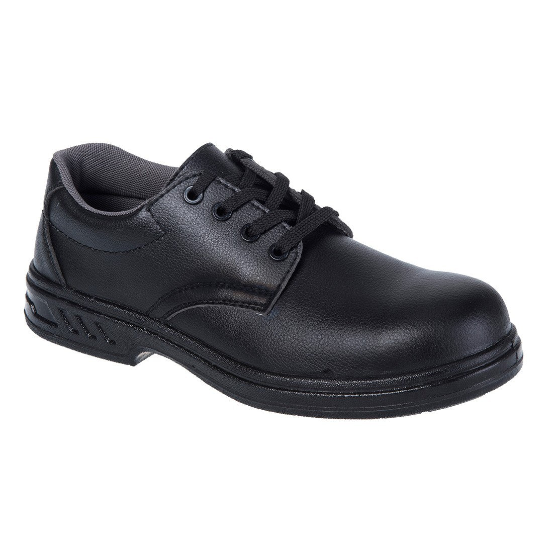 Laced Microfibre Safety Shoe