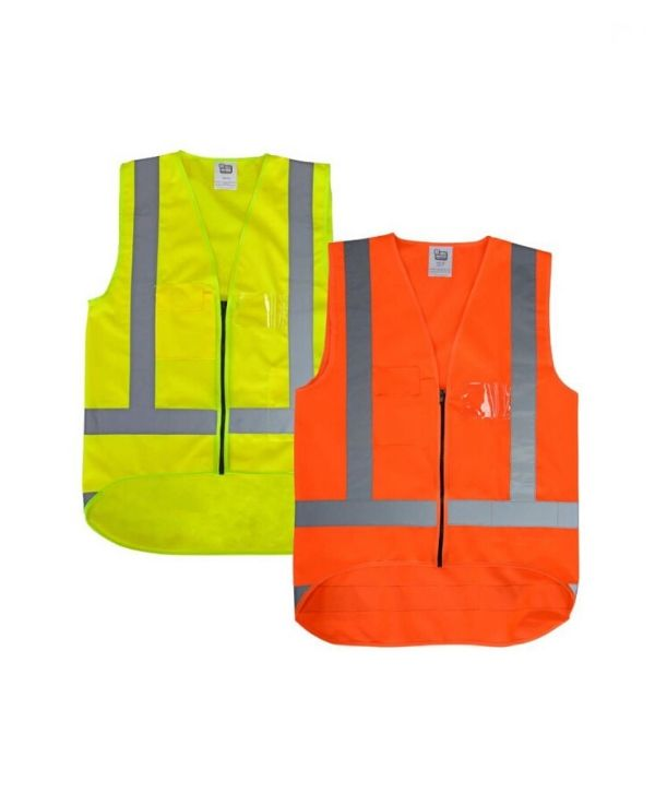 Hi Vis Safety Vest - D+N j536. LegendLife. Colours: Orange, Yellow. Sizes: XS to 7XL