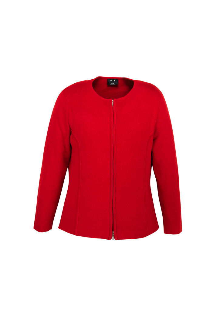 knitwear-lc3505 ladies 2 way zip cardigan