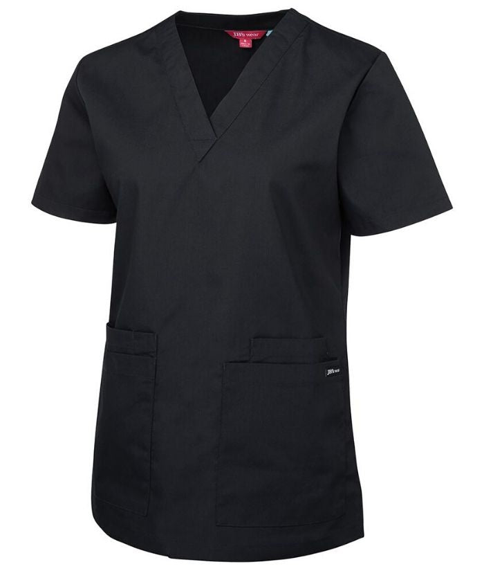 scrub-tops-nz-jb_s-ladies-scrub-top-4srt1-black