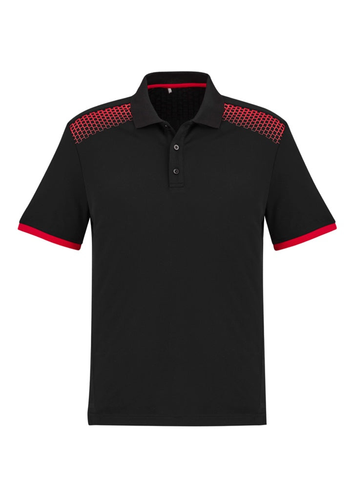 Mens Galaxy Polo-biz-collection-p900ms-black-red